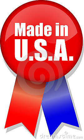 Made in U.S.A. Button Ribbon