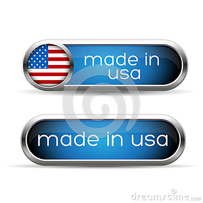 Made in USA button set