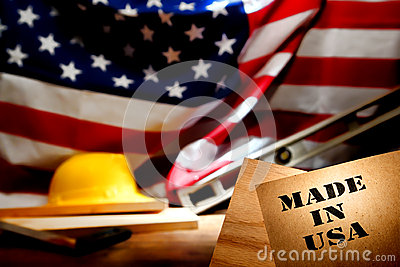 Made In USA Stencil At American Construction Site Royalty Free Stock Images - Image: 25881999
