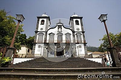 Madeira - Igreja de Nossa Senhora do Monte Church Editorial Photography