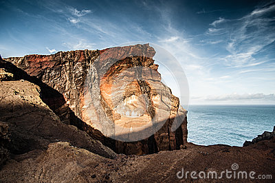 Volcanic coastline of Madeira island