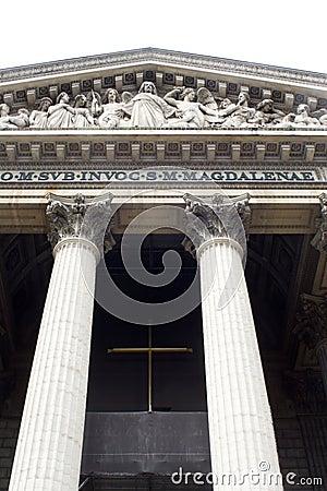 Madeleine church in Paris - column