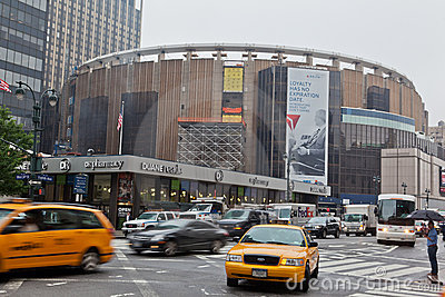 Madison Square Garden in New York City Editorial Stock Image