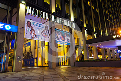 Madison Square Garden NYC Editorial Stock Image