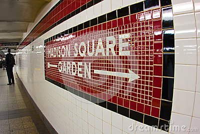 Madison Square Garden Subway Stock Photo Image 50836842