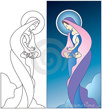 Free Madonna And Child Stock Photography - 9525782