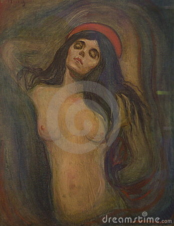 The Madonna by Edvard Munch Editorial Stock Photo