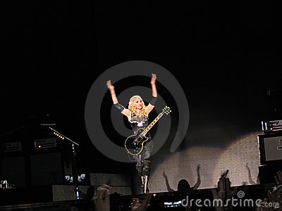 Madonna within the live concert Editorial Stock Photo