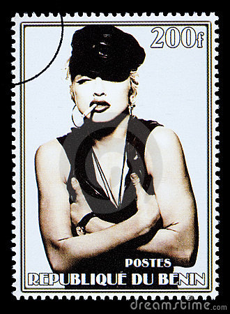 Madonna Postage Stamp Editorial Stock Photo