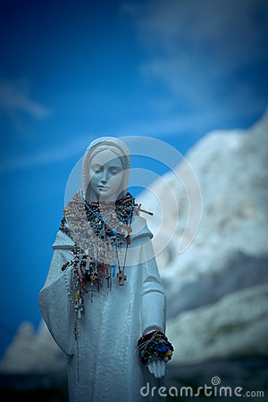 Madonna on Vajolet towers, Dolomites