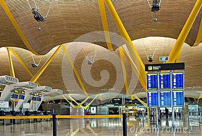 Madrid airport Editorial Image