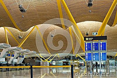 Madrid airport Editorial Image