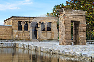 Madrid, ancient Egyptian temple of Debod