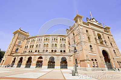 MADRID - APRIL 13: Famous Bullfighting arena in Madrid. Plaza de Editorial Stock Photo