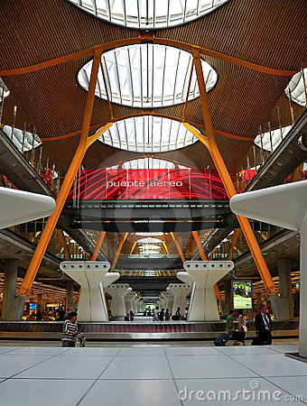 Madrid barajas airport Editorial Photography