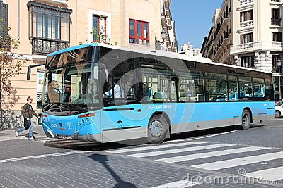 Madrid bus Editorial Stock Photo