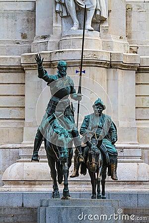 Madrid, Don Quijote and Sancho Panza