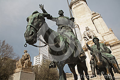Madrid -  Don Quixote and Sancho Panza from Cervantes memorial