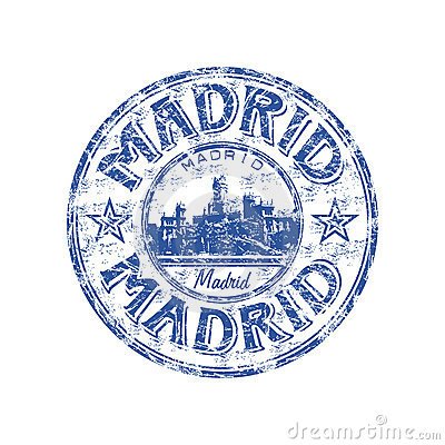 Madrid grunge rubber stamp