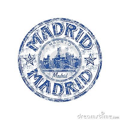 Madrid Grunge Rubber Stamp Stock Photo Image 13711560