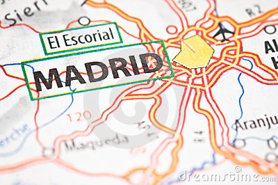 Madrid on a map