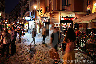 Madrid night Editorial Stock Photo