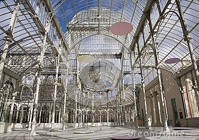 Madrid - Palacio de Cristal or Crystal Palace in Buen Retiro park