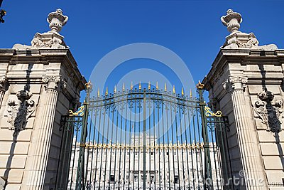 Madrid Royal Palace gate