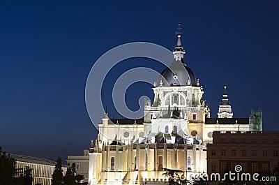 Madrid Royal Palace by night
