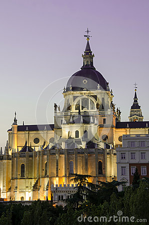 Madrid Royal Palace by Sunset