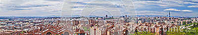 Madrid skyline panorama