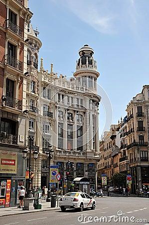 City views of the Spanish capital. Editorial Stock Photo