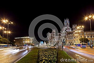 Madrid Spain at night