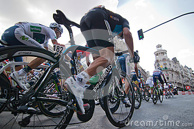 MADRID, SPAIN - SEP 9th 2012: Vuelta 2012. Editorial Stock Photo