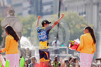 MADRID, SPAIN - SEP 9th 2012: Vuelta 2012 Editorial Stock Image