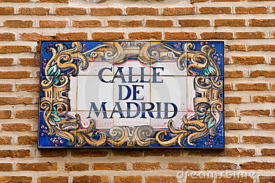 Madrid street sign