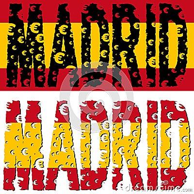 Madrid text euro grunge