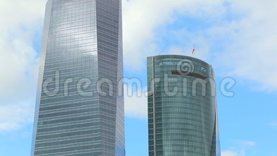 Madrid Towers stock video