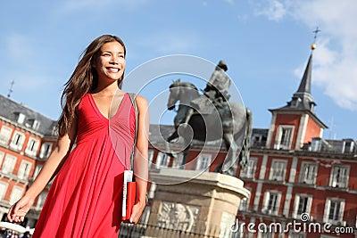 Madrid - Woman on Plaza Mayor