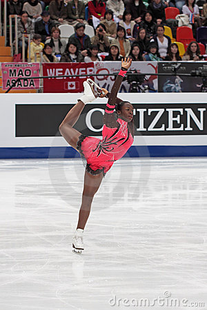 Mae Berenice MEITE, French figure skater Editorial Stock Image