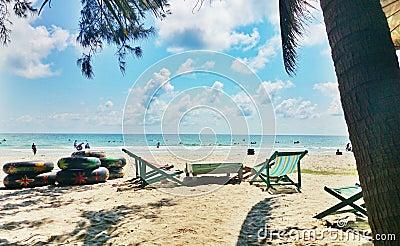 Maerampung beach in rayong thailand.