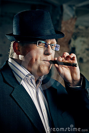 Mafia Boss With Cigar Stock Photography Image 18438102
