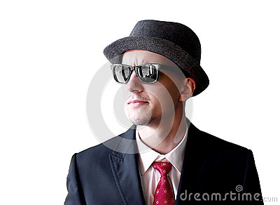 Mafia s man in sunglasses