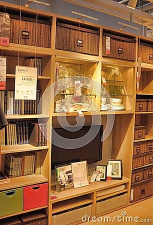 magasin de meubles int rieur ikea photographie ditorial image 41696537. Black Bedroom Furniture Sets. Home Design Ideas