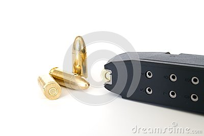 Magazine with 9mm bullets