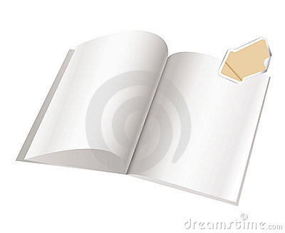 Magazine blank page template for design