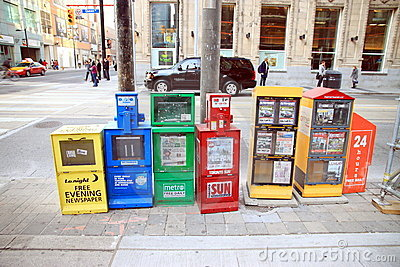 Magazine Dispensers Editorial Photo