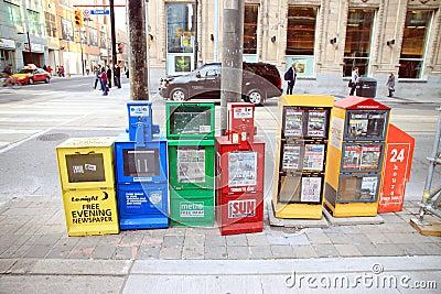 Magazine Dispensers Editorial Photo
