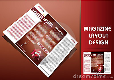 Magazine illustration design layout
