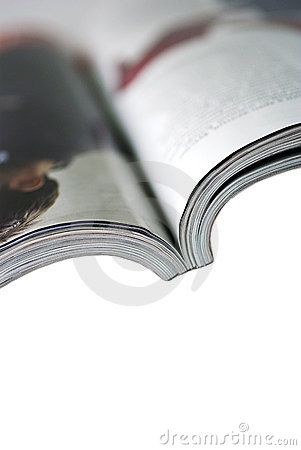 Magazine isolated on white background.